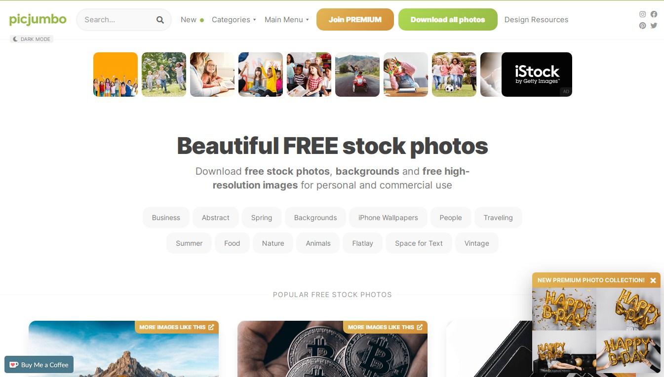 picjumbo free images website